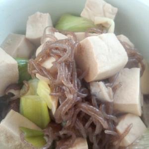 フライパンですぐ出来る!高野豆腐のすき煮風