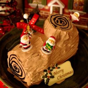 チョコパウンドで簡単ブッシュドノエル☆クリスマス