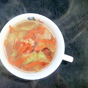 白菜ときくらげの中華醤油糀スープ