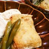 レンチンde簡単!【玉子巾着と豆腐の煮物】