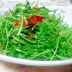 カルシウムを摂りましょう♪カリカリじゃこのサラダ