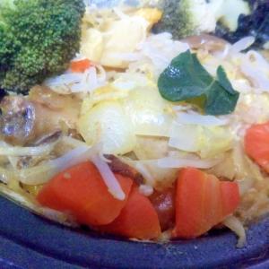 チキンと野菜のカレー蒸し焼き