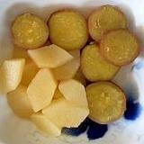 さつま芋、梨の煮物