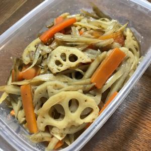 ◇常備菜◇れんこんとごぼうの炒め煮きんぴら