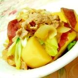 優しい味わい❤薩摩芋と馬鈴薯と玉葱と豚肉葱炒め❤