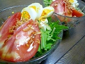 水菜トマトのサラダ