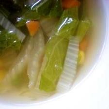 旬野菜のスープ~冬編~☆白菜もりもりスープ