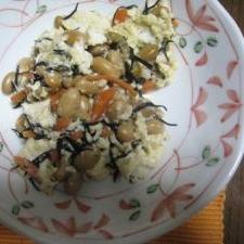 ひじき煮の炒り豆腐
