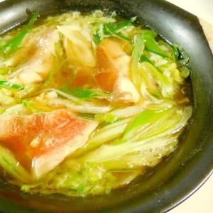 赤魚とキャベツのオイスターソース雑炊