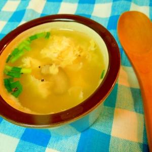 10分で作れる☆シイタケと玉子の中華風スープ