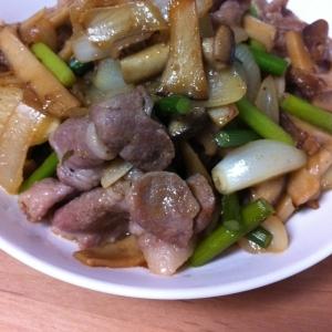 ニンニクの芽と豚肉炒め