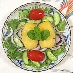 リーフレタス、キウイのサラダ