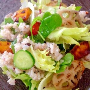 タマちゃんショップの三十雑穀米黒のライスサラダ