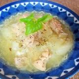 圧力鍋で玉ねぎと鶏肉の黒こしょうスープ