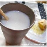 豆乳入り甘酒でほっこり温まります♪