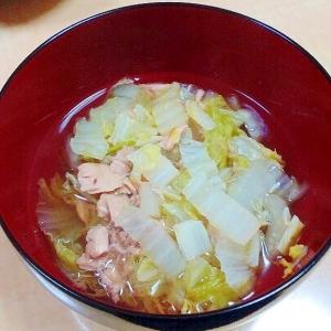 白菜とツナの煮びたし