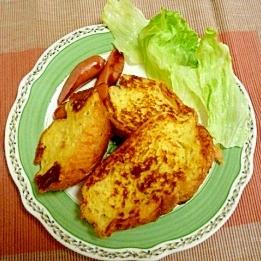 フランスでパンフレンチトースト朝食