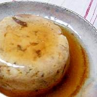 シイタケが香る♪簡単まぜまぜあんかけ蒸し豆腐