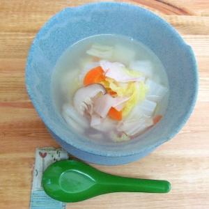 *白菜とハムでパパッと☆中華スープ*