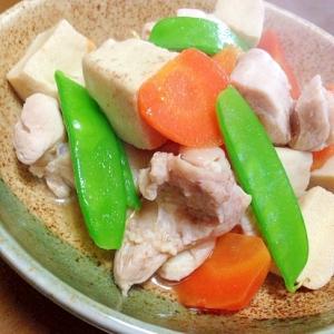 高野豆腐と鶏もも肉の煮物