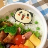 簡単海苔アートキャラ弁☆お買いものパンダのお弁当♪