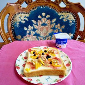いちごジャムのトースト