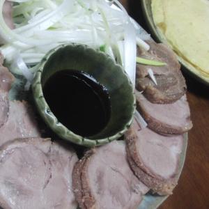焼豚で作る北京ダック風