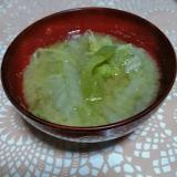 白菜と白ナスの味噌汁