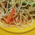 小松菜とエリンギのバター醤油パスタ