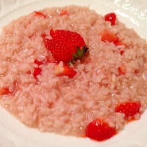 イタリアの味!苺のリゾットを圧力鍋で時短料理♪