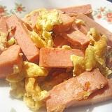 ランチョンミートとたまごの炒め物(午餐肉炒鶏蛋)