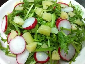 数の子と水菜のサラダ