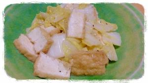 白菜と厚揚げの中華炒め
