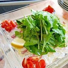 真鯛のカルパッチョ塩麹イタリアン風