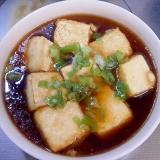 フライパンで揚げ出し豆腐風