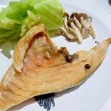 シリコンスチーマーで簡単☆ 塩鮭と野菜蒸し