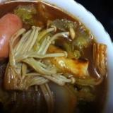 【簡単×超速】白菜たっぷり八丁味噌キムチ鍋