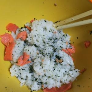 わかめ&鮭の混ぜご飯