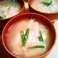 にらたまスープ