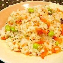 お弁当に☆鮭と枝豆の洋風混ぜご飯