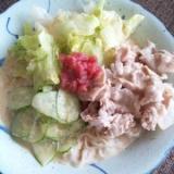 梅豚しゃぶサラダ素麺