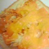 カレー味ささみマヨのチーズトースト