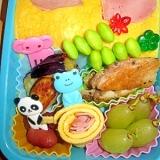 お弁当に♥ 卵とハムで・・・ハートのゴハン♥