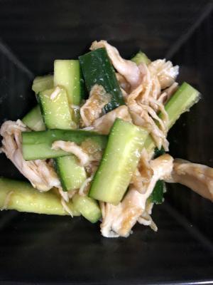 きゅうりと蒸し鶏のサラダ^ - ^