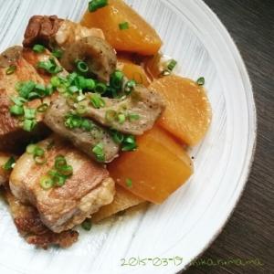 圧力鍋でホロホロ〜!豚バラ大根と蒟蒻の煮物