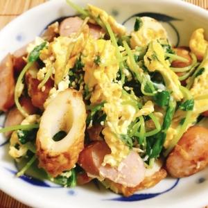 【フライパンで簡単】ウインナーと豆苗の中華炒め