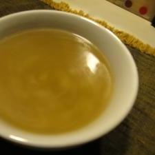 春キャベツの芯で簡単スープ