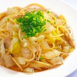 簡単、うまい! 白菜と舞茸の和風スープスパ