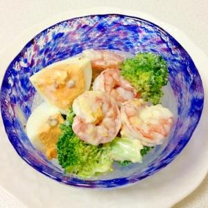 ピリッとマスタード風味☆エビとブロッコリーのサラダ