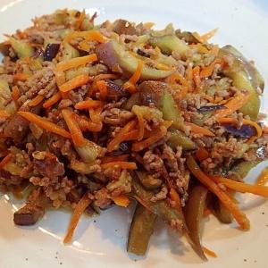 ウエイユーで ❤人参と茄子とミンチの中華炒め❤